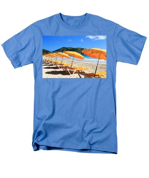 Beach Umbrellas Men's T-Shirt  (Regular Fit) by Catie Canetti