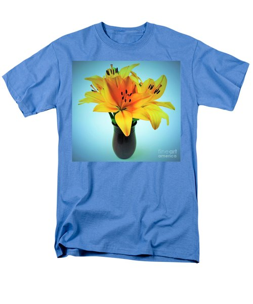 Men's T-Shirt  (Regular Fit) featuring the photograph Beautiful Royal Lilies  by Ray Shrewsberry