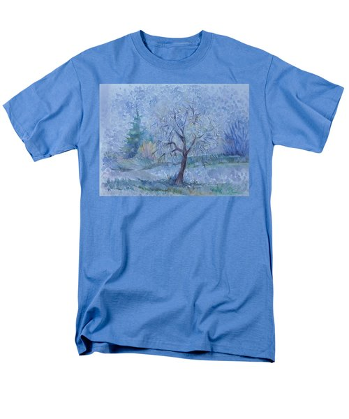 Men's T-Shirt  (Regular Fit) featuring the painting Begining Of Another Winter by Anna  Duyunova