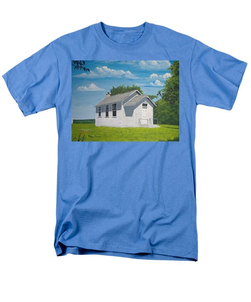 Men's T-Shirt  (Regular Fit) featuring the painting Belding School by Norm Starks