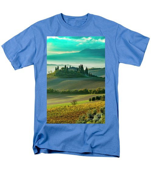Men's T-Shirt  (Regular Fit) featuring the photograph Belvedere - Tuscany II by Brian Jannsen