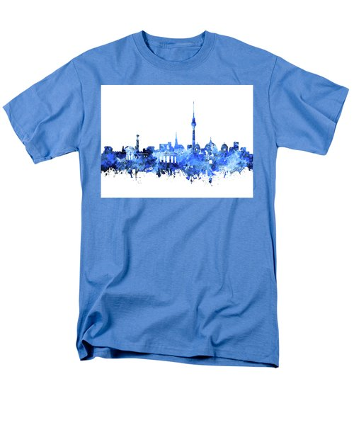 Berlin City Skyline Blue Men's T-Shirt  (Regular Fit) by Bekim Art