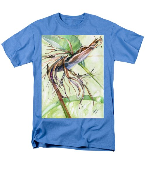 Men's T-Shirt  (Regular Fit) featuring the painting Bird Of Paradise, A Faded Beauty by Nadine Dennis