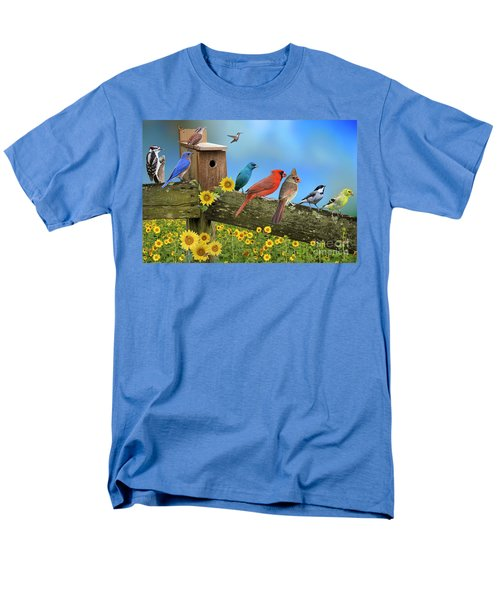 Birds Of A Feather Men's T-Shirt  (Regular Fit) by Bonnie Barry
