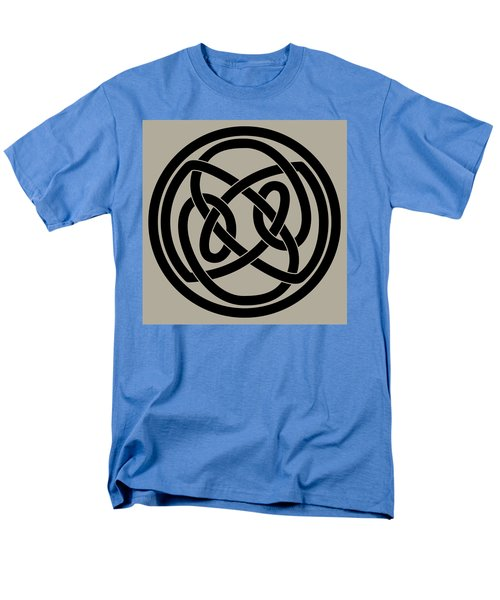 Men's T-Shirt  (Regular Fit) featuring the digital art Black Celtic Knot by Jane McIlroy