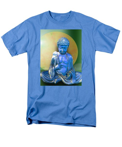 Men's T-Shirt  (Regular Fit) featuring the photograph Blue Buddha Figurine by Ginny Schmidt