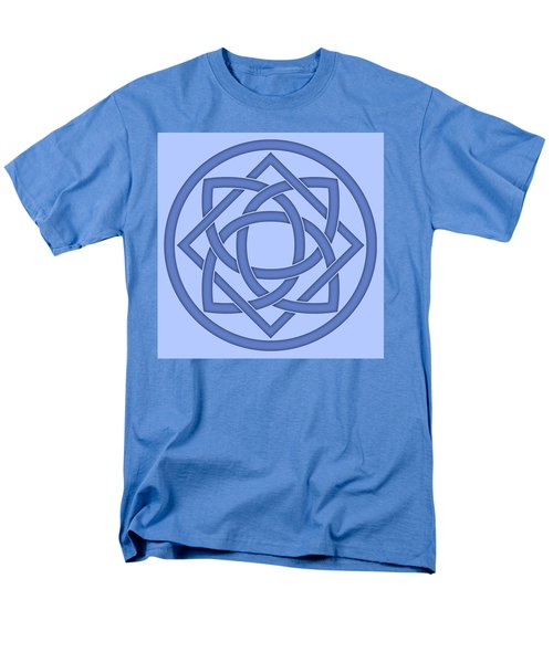 Men's T-Shirt  (Regular Fit) featuring the digital art Blue Celtic Knot by Jane McIlroy