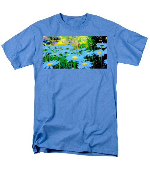 Blue Daisy Men's T-Shirt  (Regular Fit) by Terence Morrissey
