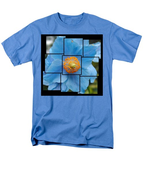Blue Flower Photo Sculpture  Butchart Gardens  Victoria Bc Canada Men's T-Shirt  (Regular Fit) by Michael Bessler