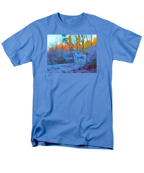 Blue Gate Men's T-Shirt  (Regular Fit) by Tobeimean Peter
