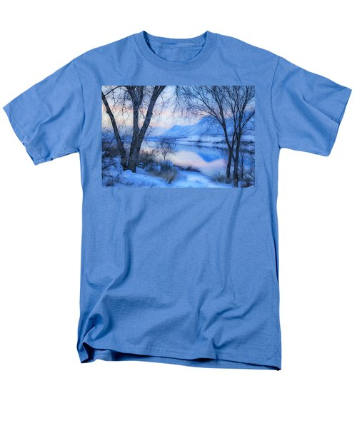 Blue Landscape Men's T-Shirt  (Regular Fit) by Theresa Tahara