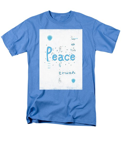 Blue Peace Men's T-Shirt  (Regular Fit) by Linda Prewer