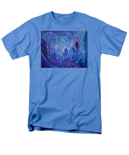Blue Rosebud Ballroom Men's T-Shirt  (Regular Fit) by Adria Trail