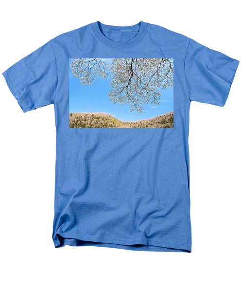 Men's T-Shirt  (Regular Fit) featuring the photograph Blue Skies And Dogwood by Tamyra Ayles