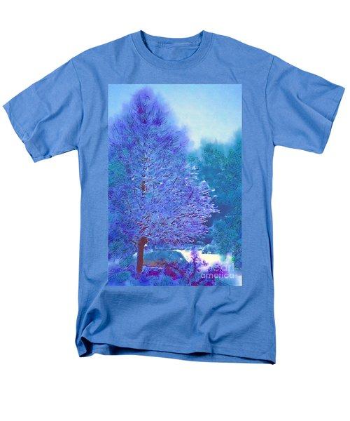 Blue Snow Scene Men's T-Shirt  (Regular Fit) by Donna Bentley