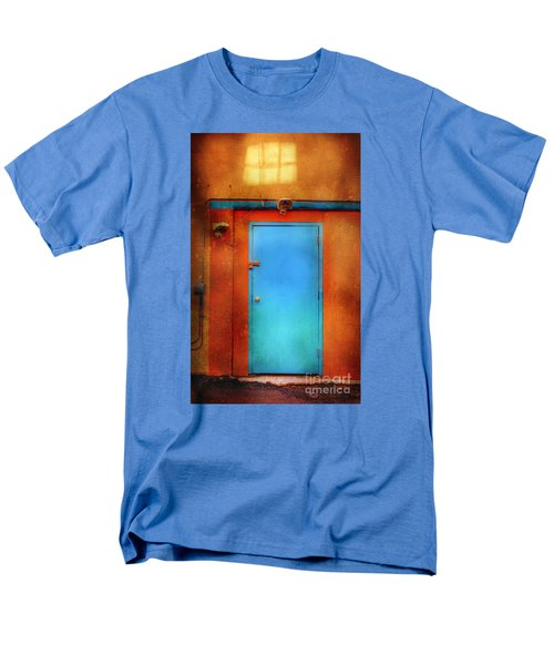 Men's T-Shirt  (Regular Fit) featuring the photograph Blue Taos Door by Craig J Satterlee