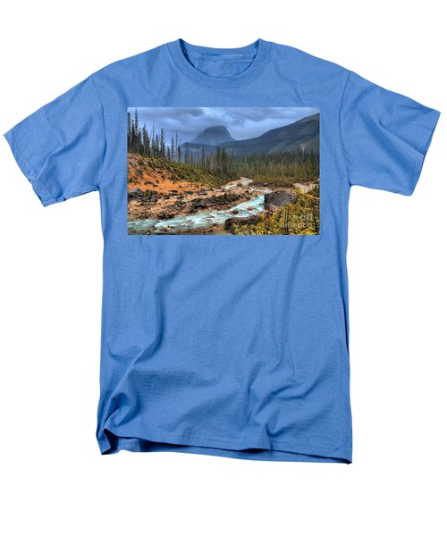 Men's T-Shirt  (Regular Fit) featuring the photograph Blue Through The Yoho Valley by Adam Jewell