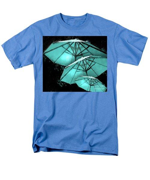 Blue Umbrella Splash Men's T-Shirt  (Regular Fit) by Deborah Nakano