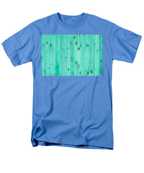Men's T-Shirt  (Regular Fit) featuring the photograph Blue Wooden Planks by John Williams