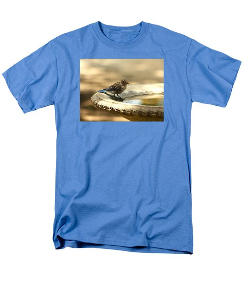 Men's T-Shirt  (Regular Fit) featuring the photograph Bluebird Bath Time by Sheila Brown