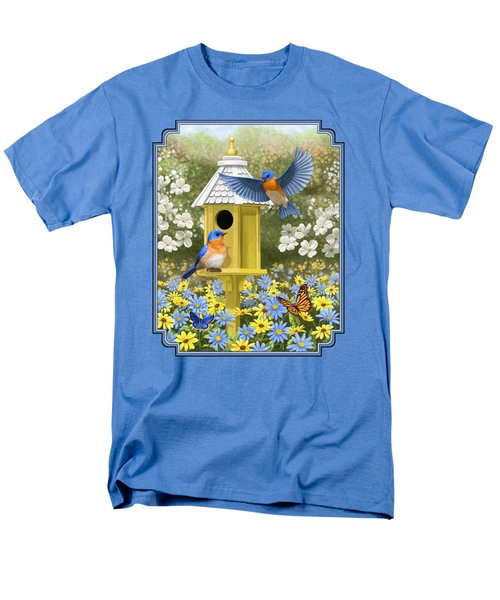Bluebird Garden Home Men's T-Shirt  (Regular Fit) by Crista Forest