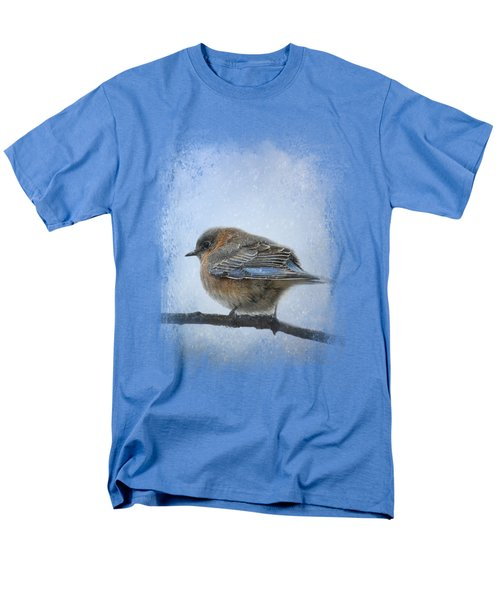 Bluebird In The Snow Men's T-Shirt  (Regular Fit) by Jai Johnson