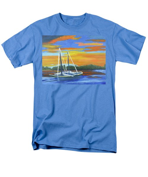 Men's T-Shirt  (Regular Fit) featuring the painting Boat Adrift by Margaret Harmon