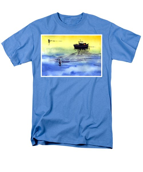 Boat And The Seagull Men's T-Shirt  (Regular Fit) by Anil Nene