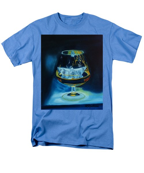 Men's T-Shirt  (Regular Fit) featuring the painting Boat In A Glass by Rod Jellison