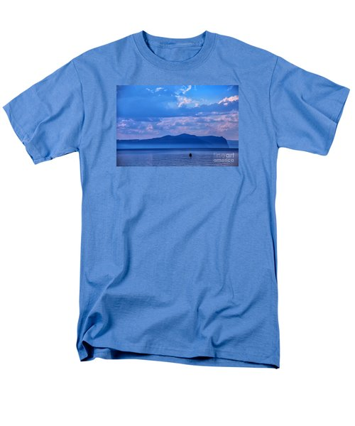 Men's T-Shirt  (Regular Fit) featuring the photograph Boat In Lake by Rick Bragan