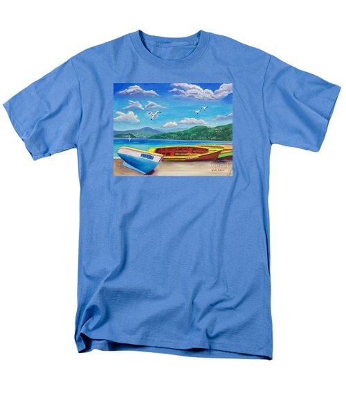 Boats At Rest Men's T-Shirt  (Regular Fit)