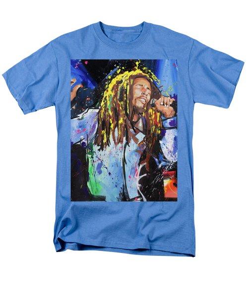 Bob Marley Men's T-Shirt  (Regular Fit) by Richard Day