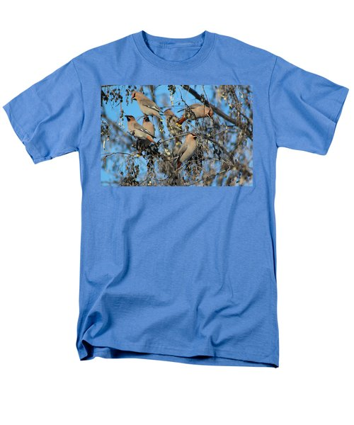 Men's T-Shirt  (Regular Fit) featuring the photograph Bohemian Waxwings by Kathy Bassett