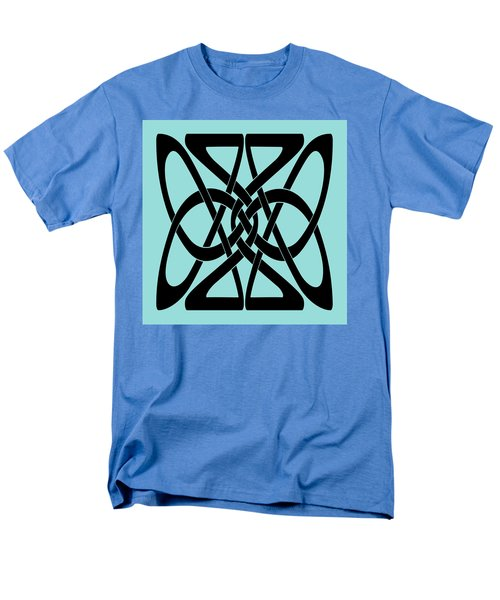Men's T-Shirt  (Regular Fit) featuring the digital art Bold Black Celtic Knot by Jane McIlroy