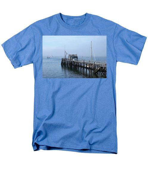 Boothbay Shipyard Dock Men's T-Shirt  (Regular Fit)