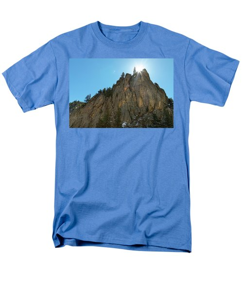 Men's T-Shirt  (Regular Fit) featuring the photograph Boulder Canyon Narrows Pinnacle by James BO Insogna