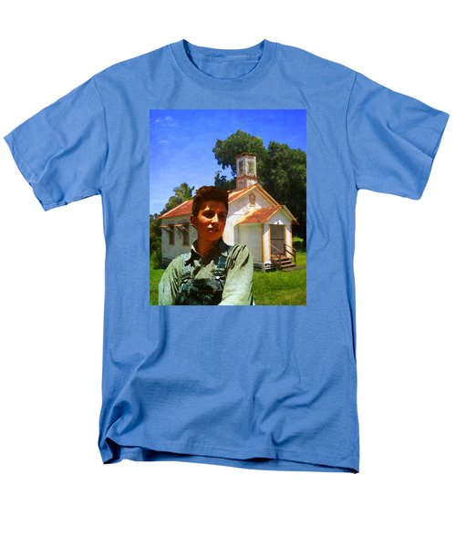 Men's T-Shirt  (Regular Fit) featuring the photograph Boy And Church by Timothy Bulone