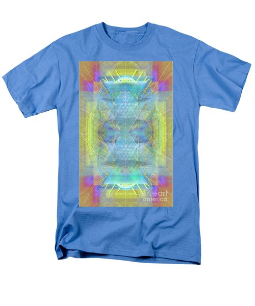 Men's T-Shirt  (Regular Fit) featuring the digital art Bright Chalice Ancient Symbol Tapestry by Christopher Pringer