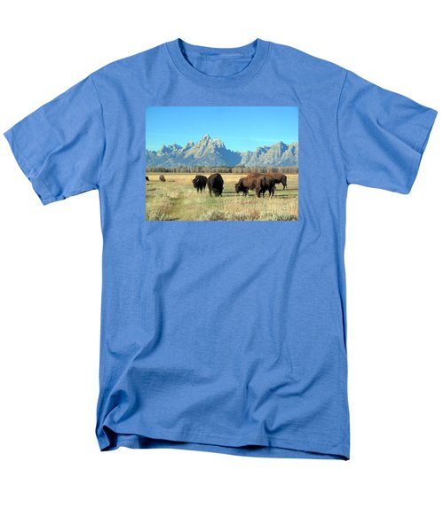 Men's T-Shirt  (Regular Fit) featuring the photograph Buffallo  by Irina Hays