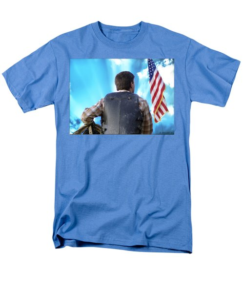 Men's T-Shirt  (Regular Fit) featuring the photograph Bull Rider by Brian Wallace