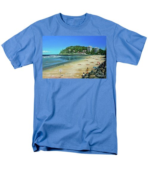 Men's T-Shirt  (Regular Fit) featuring the painting Burleigh Beach 100910 by Selena Boron