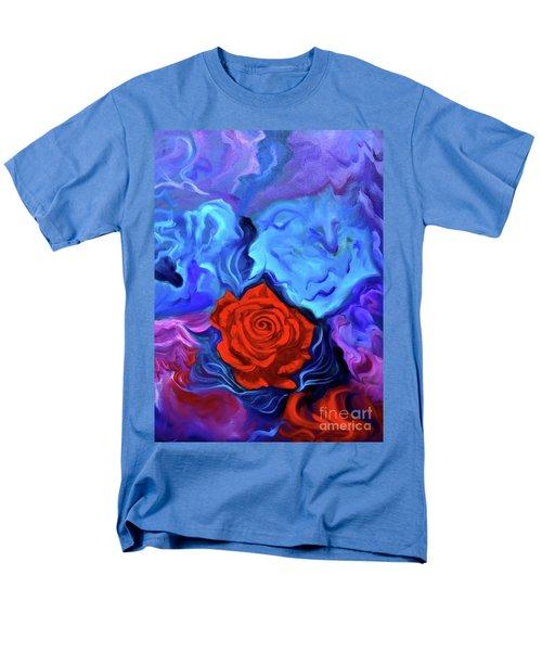 Bursting Rose Men's T-Shirt  (Regular Fit) by Jenny Lee