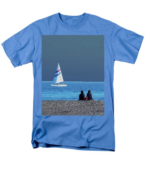 By The Sea Men's T-Shirt  (Regular Fit) by B Wayne Mullins