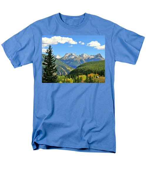 Cabin In The San Juans Men's T-Shirt  (Regular Fit) by Scott Mahon