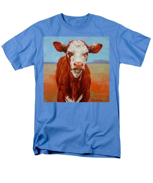 Men's T-Shirt  (Regular Fit) featuring the painting Calf Stare by Margaret Stockdale