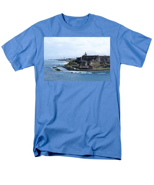 Men's T-Shirt  (Regular Fit) featuring the photograph Castillo San Felipe Del Morro by Lois Lepisto