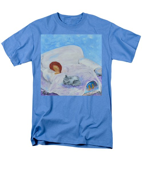 Men's T-Shirt  (Regular Fit) featuring the painting Cat Nap  by Reina Resto