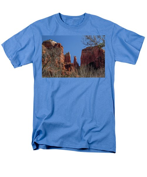 Cathedral Rock View Men's T-Shirt  (Regular Fit) by Roger Mullenhour