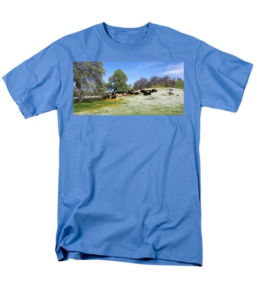 Cattle N Flowers Men's T-Shirt  (Regular Fit) by Diane Bohna