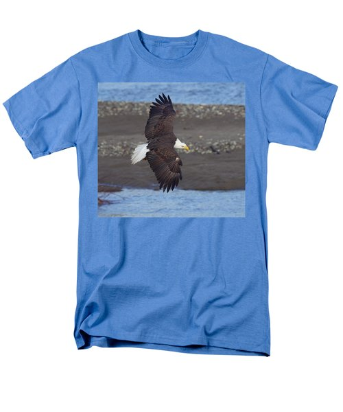 Men's T-Shirt  (Regular Fit) featuring the photograph Checking Out The River by Elvira Butler